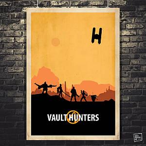 Постер Vault Hunters, Borderlands, Пограничье, BL2. Размер 60x43см (A2). Глянцевая бумага