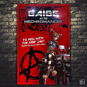 Постер Гейдж, Gaige, Mechromancer, Borderlands, Пограничье, BL2. Размер 60x39см (A2). Глянцевая бумага