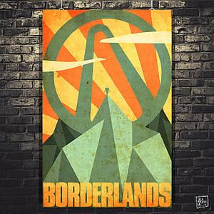 Постер Borderlands, Пограничье, BL2. Размер 60x39см (A2). Глянцевая бумага