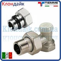 Радиаторный кран ЕС нижний угловой TIEMME 3/4' O-ring
