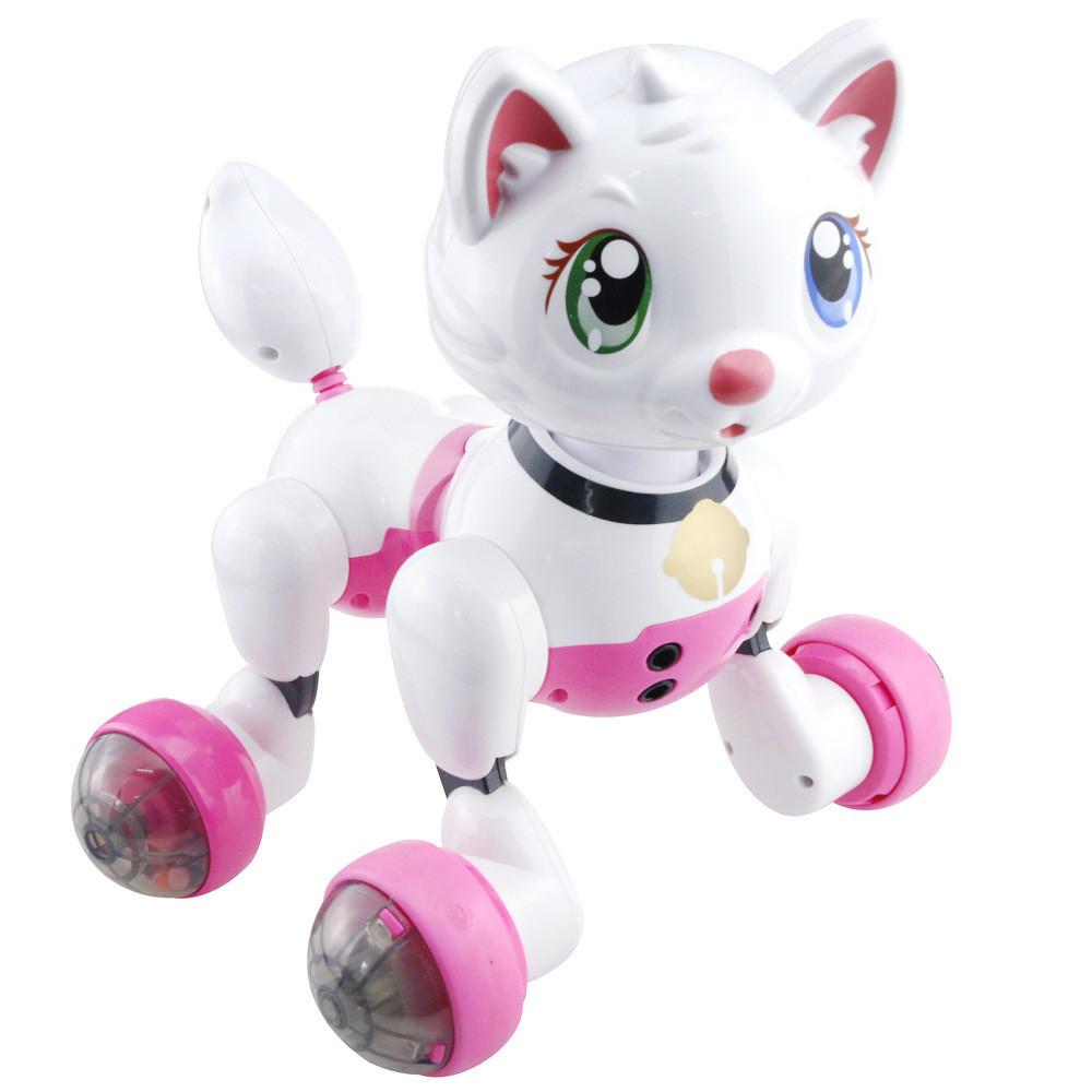 Інтерактивна іграшка FXD Cindy робот-кіт на р/к Біло-Рожевий (SUN3379)