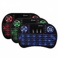 Беспроводная мини-клавиатура с подсветкой и тачпадом. i8