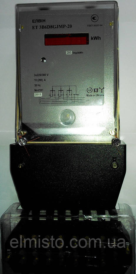 Электросчетчик Элвин ЕТ 3B 6D 8 GJMP-20