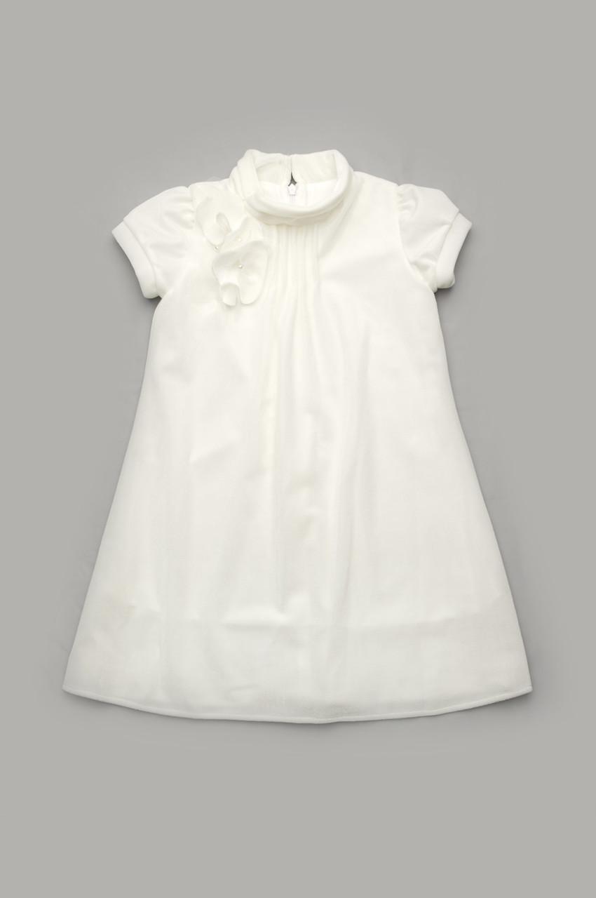 Платье нарядное из бархата, молочный