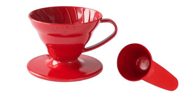 купить Пуровер Hario V60 01 красный пластик, недорогой качественный пуровер из полипропилена