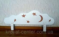 """Білий захисний бортик для дитячого ліжечка """"Хмара"""" з аплікацією 100 див., фото 2"""