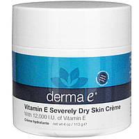 Крем с витамином Е для сухой кожи  Derma E  113 грамм