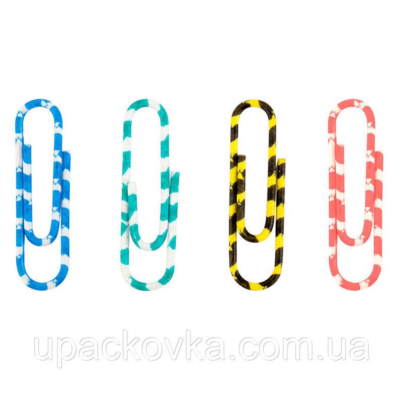 Скрепки цветные Axent 4114-A полосатые, 28 мм, 100 шт, пластиковый контейнер