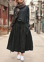 Платье льняное в стиле Бохо. С карманами, свободный крой. Стандарт-батал, любой размер, цвет и длина