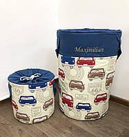 Набор корзин для игрушек с крышками (60*40 см, 30*30 см)