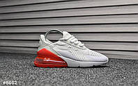 Женские кроссовки Nike Air Max 270 White Red, фото 1