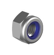 Контргайка М10х1 низкая с мелким шагом резьбы DIN985 кл.пр. 8 оцинкованная