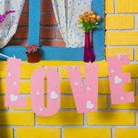 """Гирлянда """"LOVE"""" розовое и белое"""