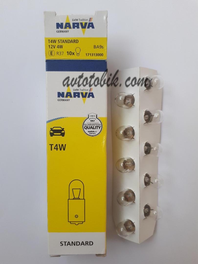 Лампа накаливания NARVA T4W Standart 12V 4W (1 шт.)