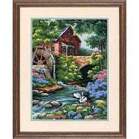 """02484 Набор для вышивания (гобелен) DIMENSIONS Old Mill Cottage """"Старая мельница"""""""