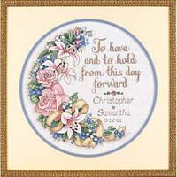 """03892 Набор для вышивания крестом DIMENSIONS To Have and to Hold Wedding Record """"Свадебная метрика. В печали и в радости"""""""