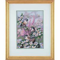 """06884 Набор для вышивания крестом DIMENSIONS Chickadees in Spring """"Синички весной"""""""