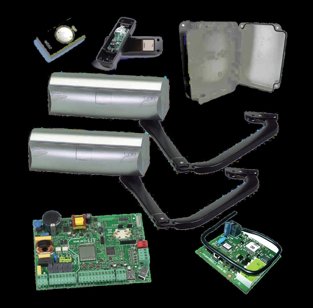 Электромеханический привод для распашных ворот FAAC 390 створка до 1,8 до 3 м