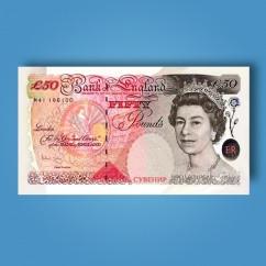 Гроші сувенірні 50 фунтів стерлінгів - 80 шт