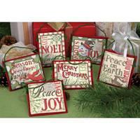 """08827 Набор для вышивания крестом DIMENSIONS Christmas Sayings Ornaments """"Рождественские украшения - Пожелания"""""""