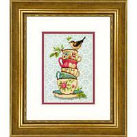 """70-65171 Набор для вышивания крестом DIMENSIONS Stacked Tea Cups """"Пирамида чашек"""""""