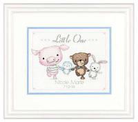 """70-74132 Набор для вышивания крестом DIMENSIONS Little One Birth Record """"Детская метрика. Малыш"""""""