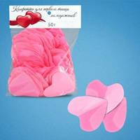 Конфетти сердца розовые (4 см, 50 г)