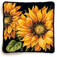 "71-20083 Набор для вышивания подушки (гобелен) DIMENSIONS Dramatic Sunflower ""Яркий подсолнух"""