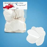 Конфетти сердца белые (4 см, 50 г)