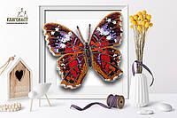 """Б-017 Набор для вышивки бисером на прозрачной основе """"3-D Бабочка Anartia Amathea"""""""