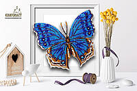 """Б-103 Набор для вышивки бисером на прозрачной основе """"3-D Бабочка Salamis Temora"""""""