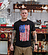Футболка мужская винтажная патриотическая Distressed US Flag Athletic Fit с флагом США   черная   США, фото 4