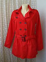 Плащ женский легкий красный ветровка хлопок бренд Outfit р.50