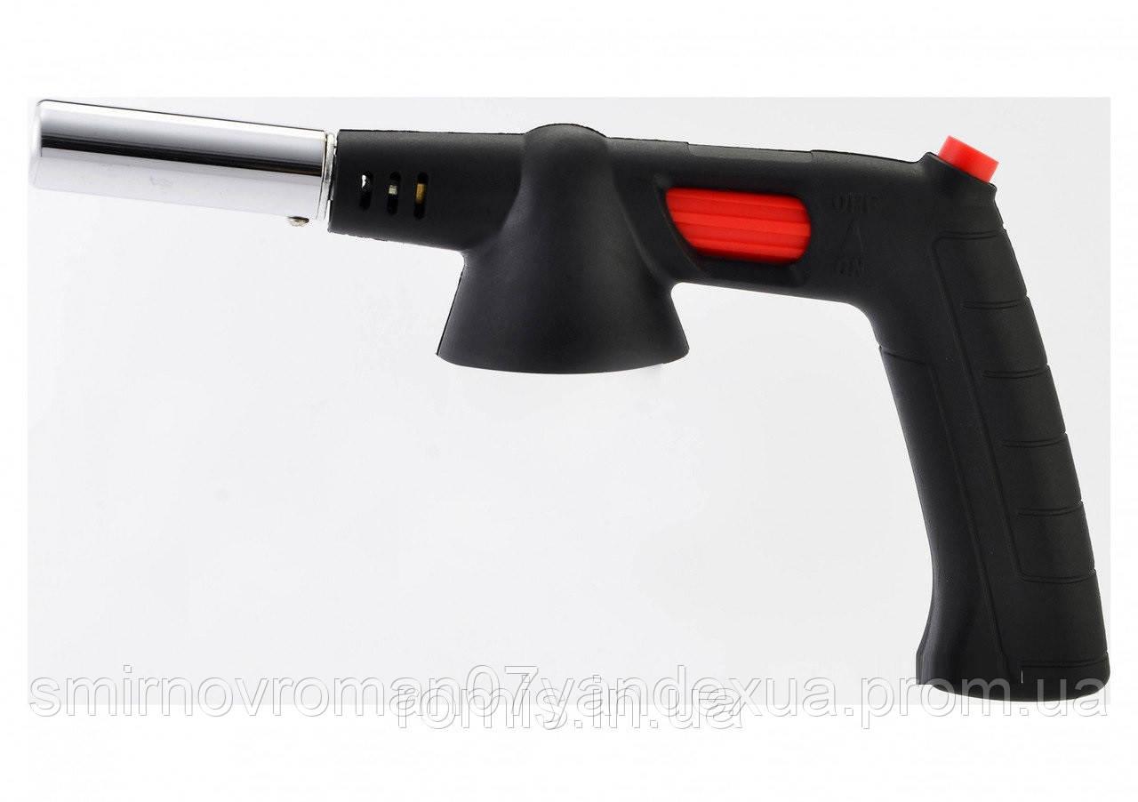 Пальник газовий VIROK з цанговим (швидким) з'єднанням з ручкою, п'єзо запал, керамічне сопло