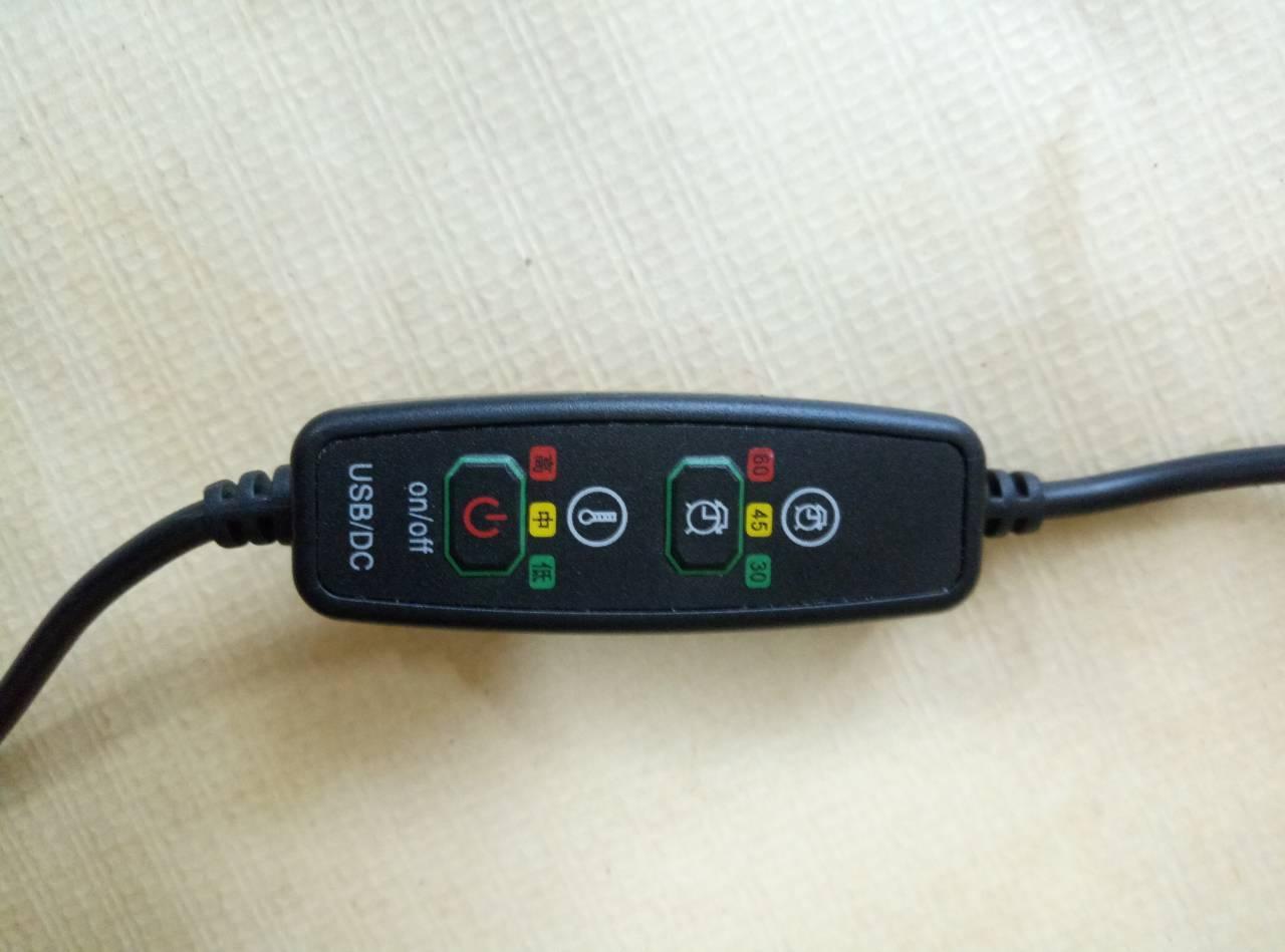 Usb контролер температуры для одежды с подогревом, с таймером, две кнопки, 2А/5V