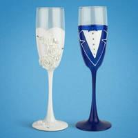 Свадебные бокалы (ручная работа) TL-1407