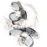 Кольцо с кристаллами и стразами Аурика р.18,19