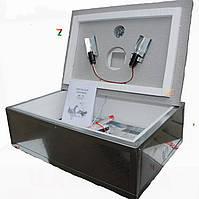Инкубатор бытовой оцинкованный «Наседка ИБМ-70» с механическим переворотом яиц и цифровым терморегулятором.
