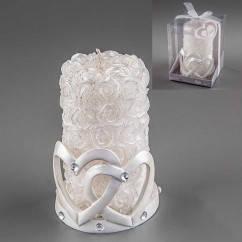 """Весільна свічка """"Два серця"""""""
