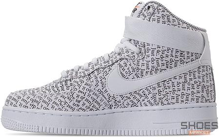 "d3ded785 Мужские кроссовки Nike Air Force 1 High ""Just Do It"" White купить в ..."