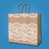 Пакет для свадебного каравая (крафт 23*23*10 см)