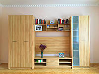"""Стінка з шафою у вітальню """"Сатіно"""" від Гербор 3.0м"""