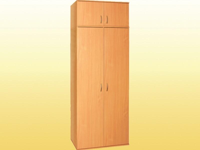 Шкаф для одежды с выдвижной штангой, с антресолью (0638,0653)