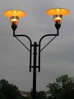 Светильник уличный, парковый «AURIS» с крышкой