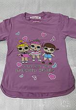 Модный реглан для девочек 92, 98 роста Куклы LOL, фото 2