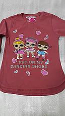 Модный реглан для девочек 92, 98 роста Куклы LOL, фото 3