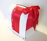 Свадебный сундучок, красно белый., фото 2