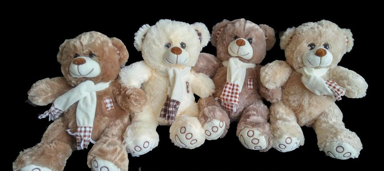 С шарфом Мишка 41 см мягкая игрушка на подарок плюшевый медведь игрушки для детей
