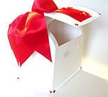 Свадебный сундучок, красно белый., фото 4