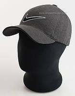 Трикотажная бейсболка с логотипом Nike темно-серый меланж, Сахара пятиклинка